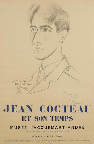 After Pablo Picasso A poster for 'Jean Cocteau et Son Temps' Musee Jacquemart-Andre, Paris, Mars-Mai 1965