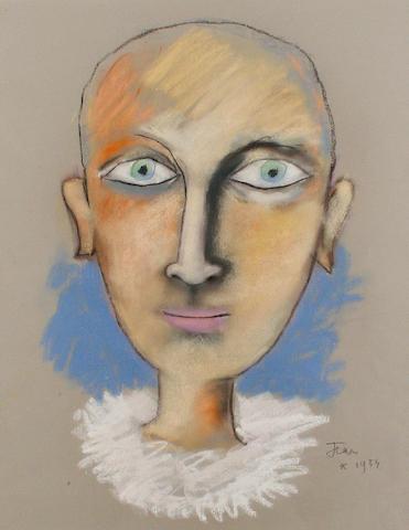 Jean Cocteau (French, 1889-1963) Jeune homme à la collerette blanche