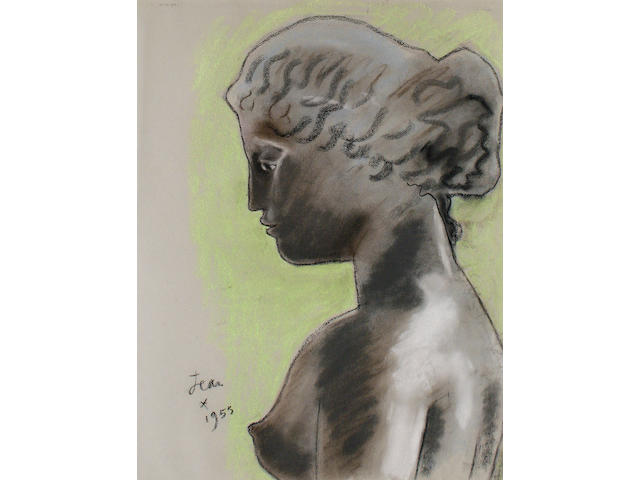 Jean Cocteau (French, 1889-1963) Bust of a woman in profile