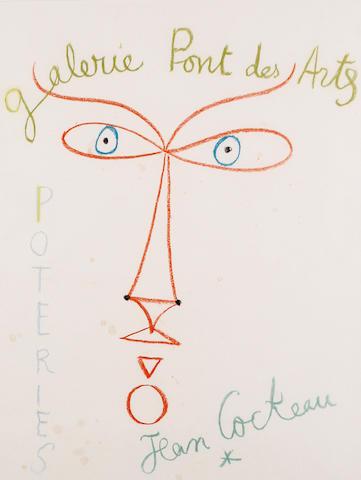 Jean Cocteau (French, 1889-1963) 'Poetries - Galerie Pont des Arts'