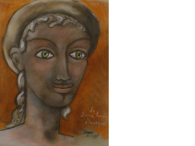 Jean Cocteau (French, 1889-1963) Jeune homme étrusque