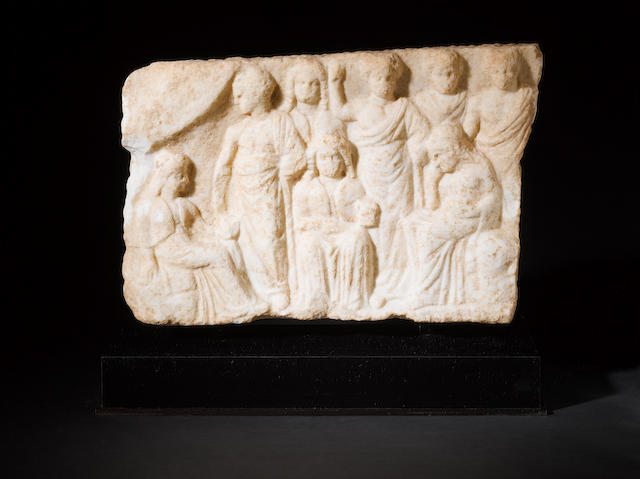 A Greek marble relief