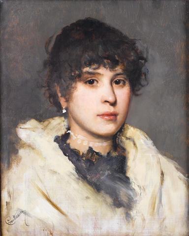 Cecil van Haanen (Austrian, 1844-1914) The Venetian girl
