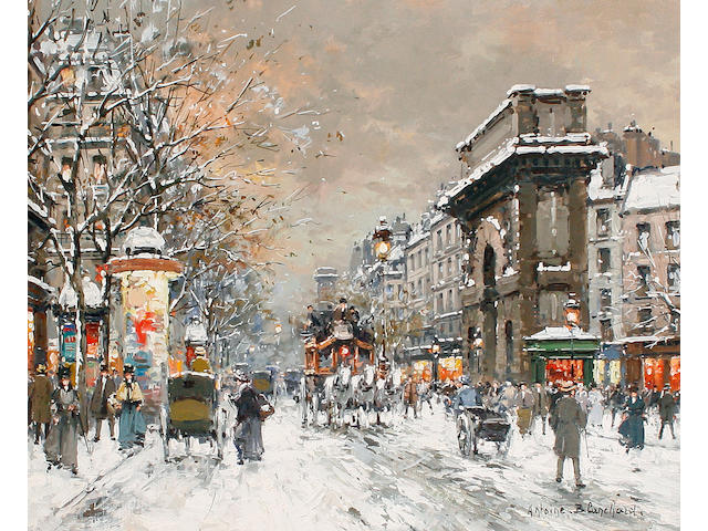 Antoine Blanchard (French, 1910-1988) 'Paris, Pte St Martin'