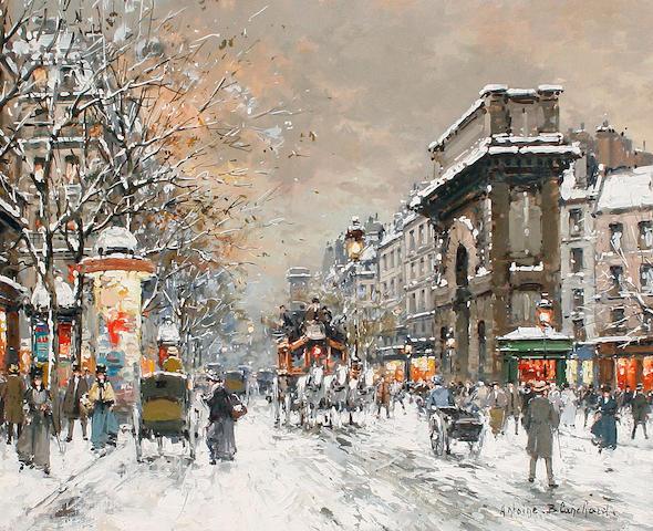 Antoine Blanchard (French, 1910-1988) 'Paris, Pte St Martin'