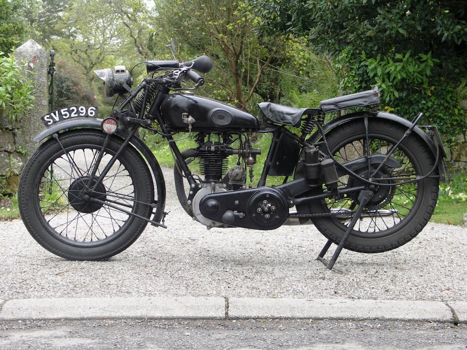 1929 Humber 349cc OHV Sports Frame no. 11191 Engine no. 11491
