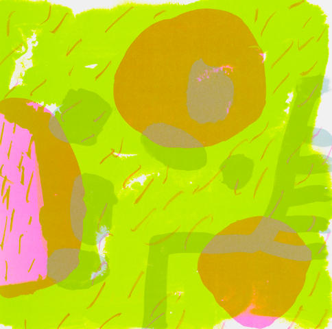 Patrick Heron (British, 1920-1999) Garden Print Lithograph in colours, 1987, on wove, signed, dated and inscribed AP in pink felt-tip pen verso, as included in the Artists' Choice portfolio, published and printed by the Royal College of Art, London, 305 x 305mm (12 x 12in)(SH) unframed