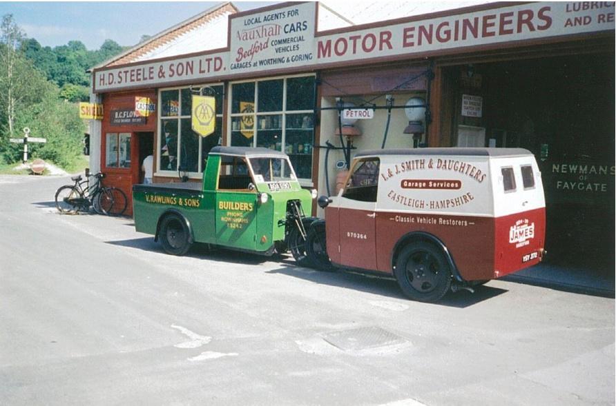c.1934 James 10HP 1098cc 12-cwt Handyvan pick-up Frame no. 2950 Engine no. G1419