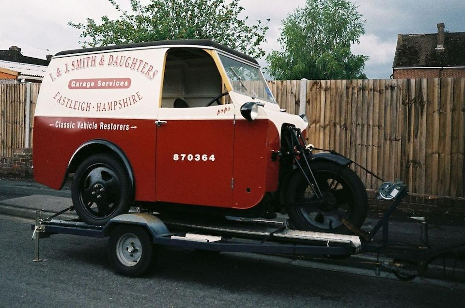 c.1935 James 10hp 8cwt 'Samson' Handyvan Frame no. 5266 Engine no. 3278