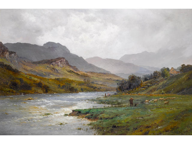 Alfred de Bréanski, RBA (British, 1852-1928) The Llugwy in flood, Capel Curig