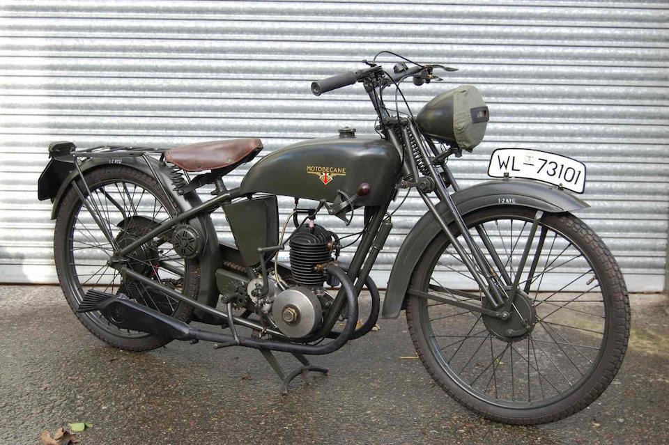1938 Motobécane 100cc B1V2 Military Motorcycle  Frame no. 415950