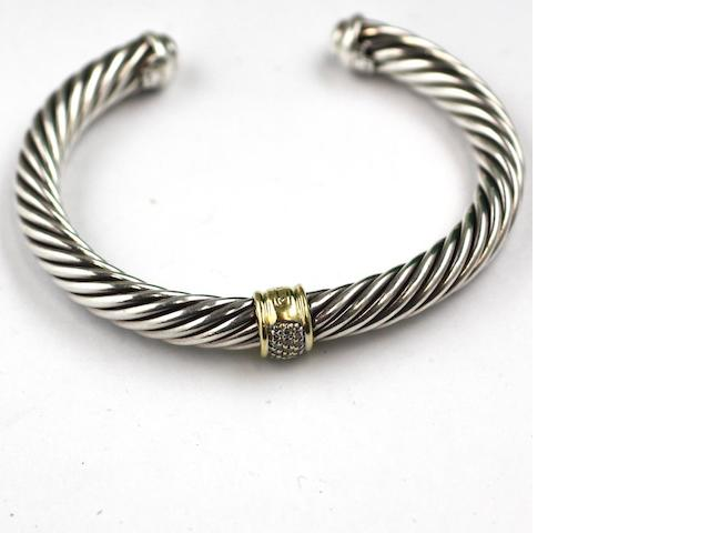 A diamond set bangle