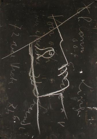 Jean Cocteau (French, 1889-1963) Le dernier tableau noir