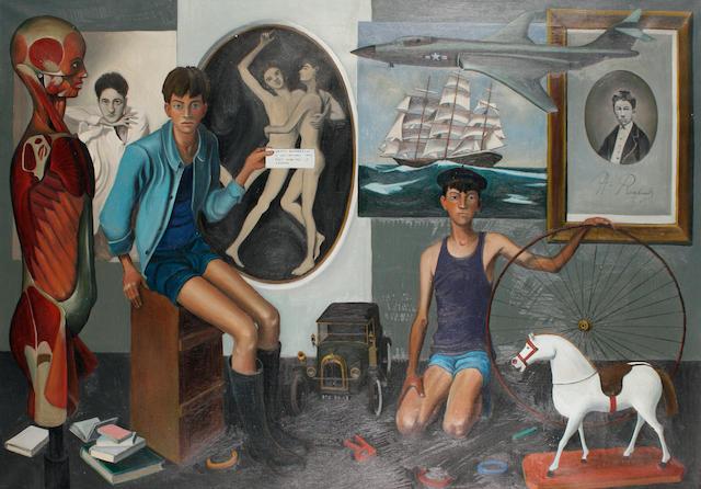 20th Century School 'Tableau d'un inconnu en hommage a Jean Cocteau'