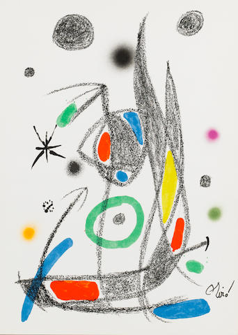 Joan Miró (Spanish, 1893-1983) Maravillas con variaciones The full set of 20 lithographs in colours, 1975, on wove, the edition was 1500, with the stamped signature, published by Ediciones Poligrafa, Barcelona, various sizes 20