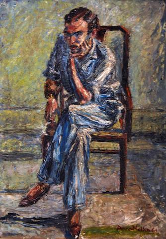 (n/a) Anna Molka Ahmed (Pakistan, 1917-1994) Portrait of Sufi Waqar,