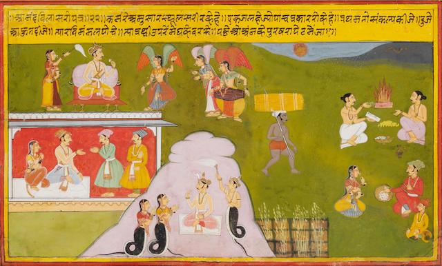 A Ramayana scene Mewar