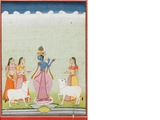Krishna fluting to the gopis Bikaner