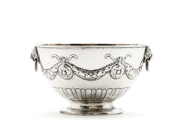 An early 19th century Danish  silver  bowl, maker's mark IAS, probably for Johan Andreas Steen,  active in Kerteminde,