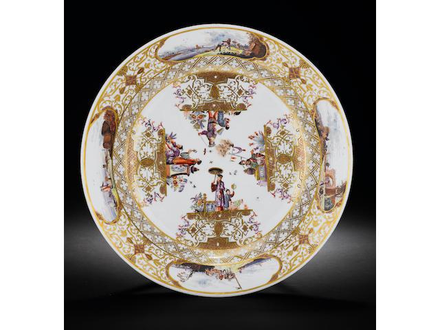 A Meissen circular dish circa 1735