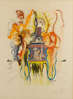 Salvador Dali (Spanish, 1904-1989) Four Dreams of Paradise Set of four lithographs in colours, 1973, on wove, each signed in pencil and numbered variously from the edition of 1000, printed by Grapholith, Paris, published by Zeit Magazin/Observer, 710 x 350mm, each (27 3/4 x 13 3/4in)(SH) unframed