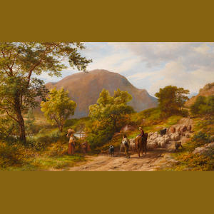 James Thomas Linnell (British, 1820-1905) A mountain road