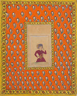 Youth with a rose Deccan, circa 1680