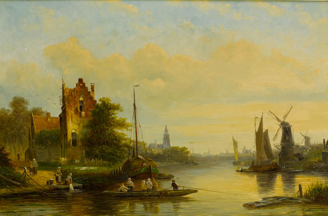 Jan Jacob Coenraad Spohler (Dutch, 1837-1923) The ferry