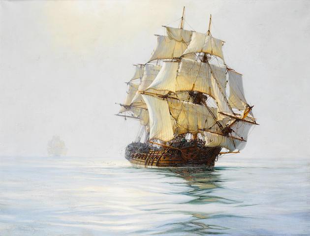 Montague Dawson (British, 1890-1973) Idle Sails