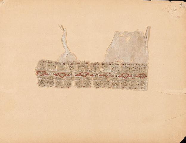 A Fatimid woven tiraz Fragment Egypt, 11th/12th Century