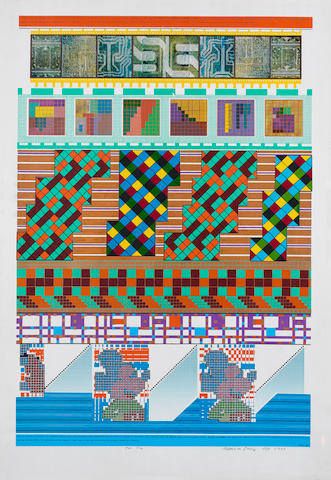 "Sir Eduardo Paolozzi (British, 1924-2005) A Formula that can Shatter into a Million Glass Bullets Screenprint in colours, 1967, on wove, signed and inscribed A/P ""For Tim"", an artists proof, 1010 x 690mm (39 3/4 x 27 1/4in)(SH) unframed"