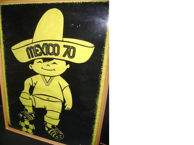 Mexico 1970 World Cup poster and towels
