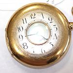 A 14ct gold half hunter pocket watch,