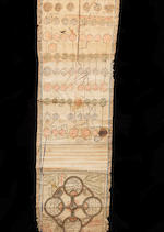 An illuminated Sufi genealogical scroll tracing the lineage of eminent Naqshabandis MANIJEH TO REPORT probably Central Asia, late 18th/19th Century