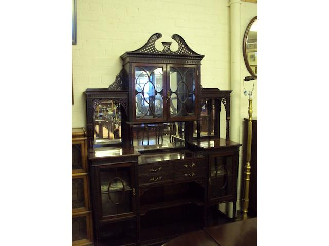 A late Victorian Lamb of Manchester mahogany display cabinet Stamped 'LAMB MANCHESTER 22675'