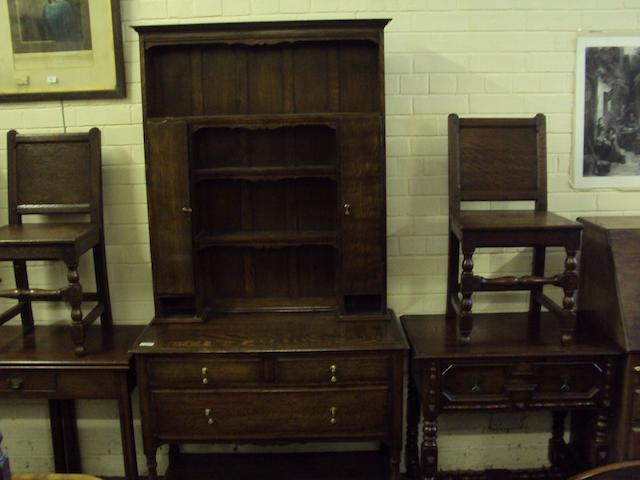 An 18th Century style oak high dresser