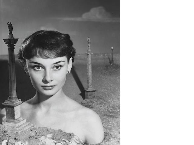 Angus McBean, Audrey Hepburn, 1950, gelatin silver print, signed on mount, printed 1980s