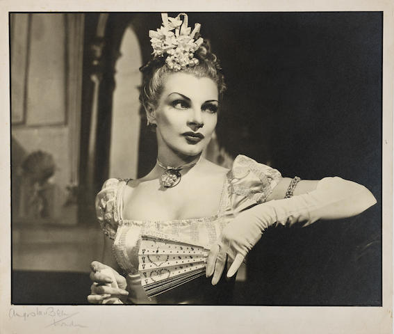 Angus McBean (British, 1904-1990) Claire Luce as Becky Sharp in Vanity Fair, London, 1946