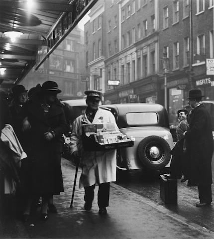 Wolfgang Suschitzky (British, born 1912) London Theatre Queue, 1936 Paper 50.6 x 40.6cm (19 7/8 x 16in), image 41.2 x 36.7cm (16 1/4 x 14 1/2in).