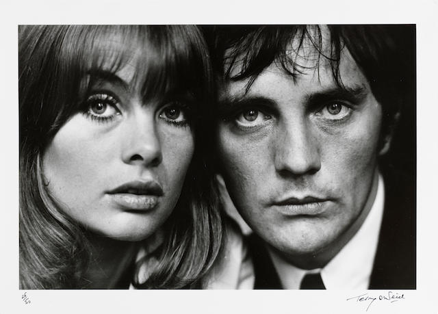 Terry O'Neill (British, born 1938) Jean Shrimpton and Terence Stamp, London, 1963