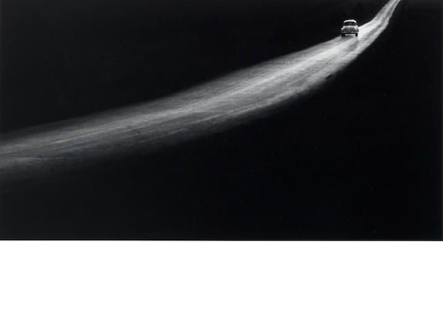 George Tice (American, born 1938) Country Road, Lancaster, Pennsylvania, 1961 13.3 x 24.2cm (5 1/4 x 9 1/2in).