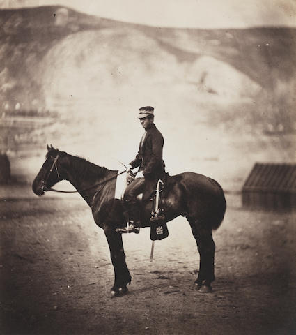 Roger Fenton (British, 1819-1869), Soldier from the Crimean War, 1856, salt print 19.2 x 16.9cm (7 9/16 x 6 5/8in).