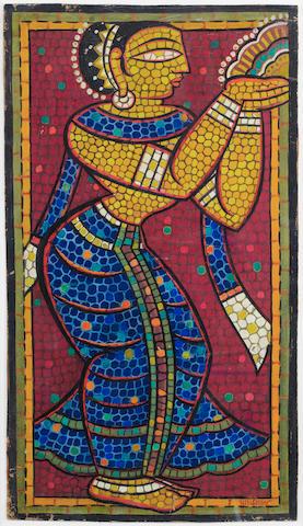 (n/a) Jamini Roy (India, 1887-1972) Standing Gopi,