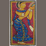 Jamini Roy (India, 1887-1972) Standing Gopi,
