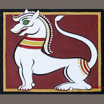 Jamini Roy (India, 1887-1972) Lion Figure,