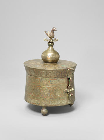 A large Khorasan copper Jewellery Box Persia, 11th/ 12th Century