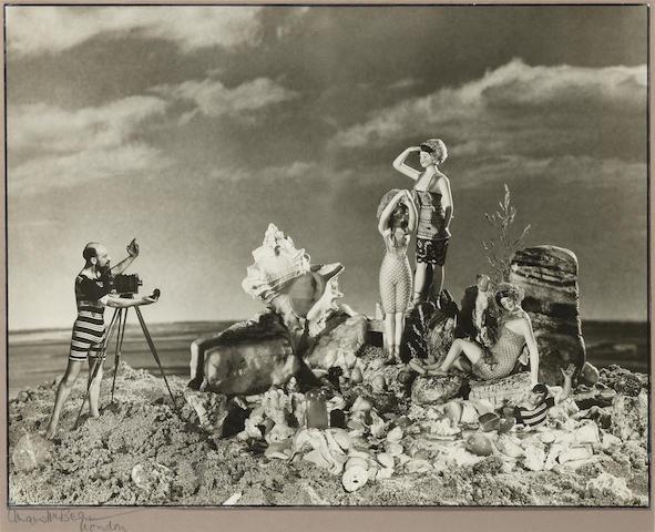 Angus McBean, Surrealist self portrait, vintage gelatin silver print, signed on mount, framed