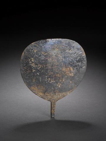 An Egyptian votive bronze mirror