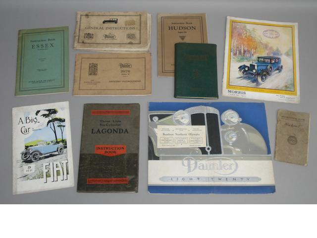 A three litre six-cylinder Lagonda instruction book,