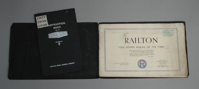 An instruction book for the Railton motor car, 1937,